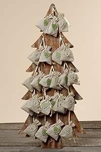 Adventskalender Holz Baum : adventskalender baum aus holz 25 teilig weihnachtsdeko ~ Watch28wear.com Haus und Dekorationen