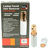 Women Painless Epilator Hair Remover Built-in Light,Removes Hairs from Lip, Chin, Cheeks, 18k Gold Plated Head