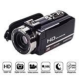 """Videocamera Digitale 1080P FHD Full HD, Visione Notturna IR Infrarossi, Zoom Digitale 16X, 24MP, Schermo Touch da 3"""", Telecomando, Compatta e Portatile"""