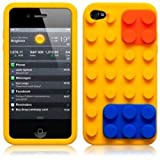 OnlineBestDigital - iPhone 4S / iPhone 4 Style brique Etui silicone / Couverture /...