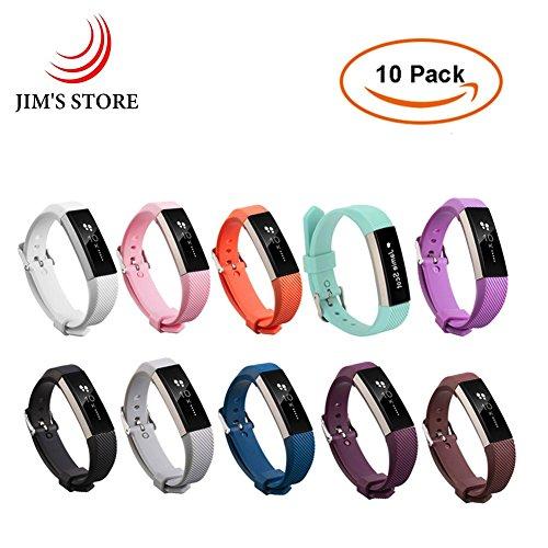 Para-Fitbit-Alta-Alta-HR-JIMS-STORE-10-PCS-Adjustable-Silicona-Reemplazo-Wristband-con-hebilla-de-metal-Clasp-2PCS-Protector-de-pantalla