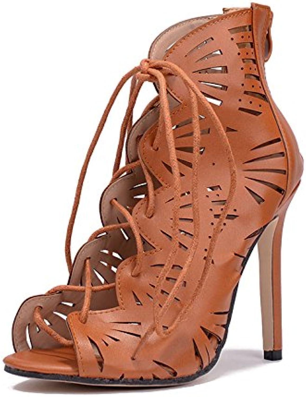 d399fdff5c9973 wo roFemme chaussures glisse sur sur sur talons hauts sexy cheville sandales  partie mariage escarpins chaussures b07ctkt1qk pompes mesdames robe parent  ...