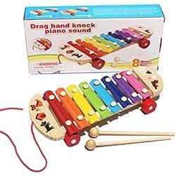 Tongshi Bebé Niños Juguetes Musicales xilófono sabiduría preparación de instrumentos de madera