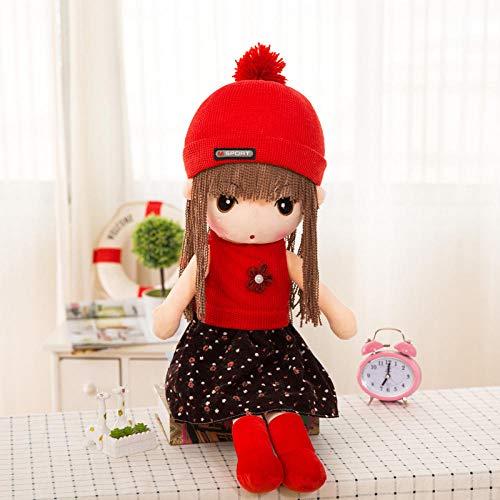 BAONZEN Muñeca de Tela tierna muñeco de Peluche de Dibujos Animados muñeca niña Regalo de cumpleaños Almohada muñeca @ 2_85 cm