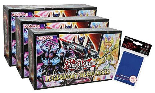 Unbekannt Yu-Gi-Oh - Legendary Hero Decks 3 Boxen + Hüllen - Deutsch