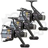 3 x LINEAEFFE GRATUIT carpe 60 3BB carpe / Gros RUNNER moulinets de pêche pre-spooled avec 15lb fil