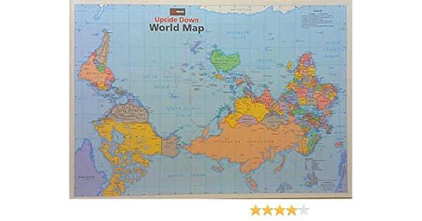 Upside Down World Map, Planokarte: Amazon.de: Collectif ...