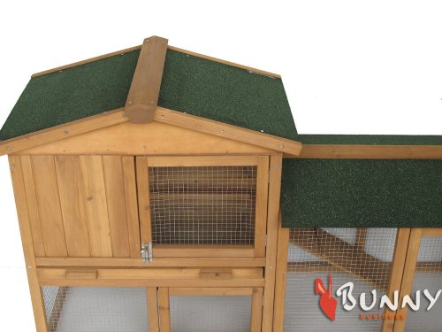 BUNNY BUSINESS The Grove Double Decker Rabbit/ Guinea Pig Hutch and Run, Brown 7