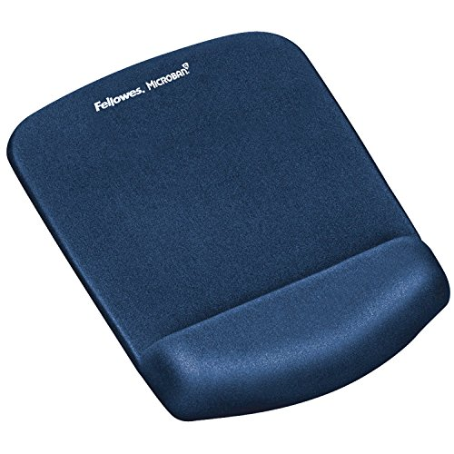 Fellowes 9287302 PlushTouch Handgelenkauflage mit Mauspad blau