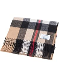 Edinburgh 100% Cashmere Unisex Scottish Tartan Multicolor Scarf