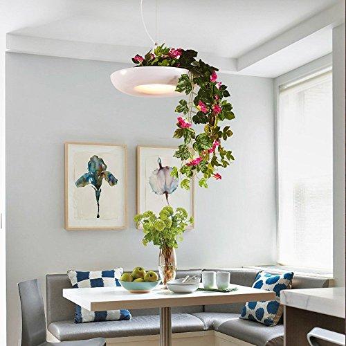 Luft Fall Top (HOMEE Nordic kreative Luft Garten Topfpflanzen Blumentöpfe Eisen Kronleuchter Restaurant Terrasse Kunst Kronleuchter (Farbe, Style optional),B)