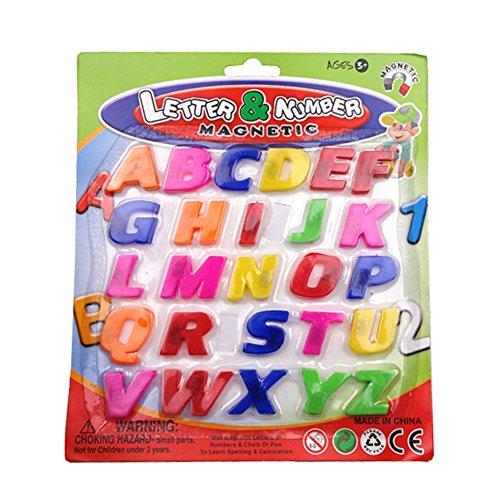 Demiawaking Kinder Bunte 26 PC ABC Alphabet-Kühlschrank-Magnet frühen Lernen pädagogischen Spielzeug (Kühlschrank-magnete Lernen)