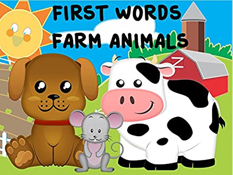 First Words / Farm Animals Video Book For Kids