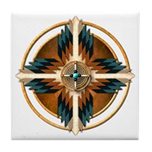 CafePress - Native American Mandala 02 - pour carrelage Dessous de Verre, boissons Dessous de Verre, petite Dessous de Plat