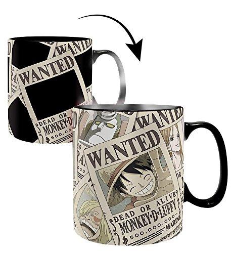 One Piece Tasse - Thermoeffekt - Wanted - Keramik - Offiziell lizensiert