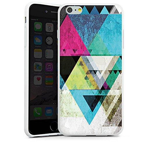 Apple iPhone X Silikon Hülle Case Schutzhülle Muster Grafisch Abstrakt Silikon Case weiß