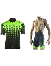 Uglyfrog Ciclismo Maillot Hombres Jersey y Pantalones Cortos bib Mangas Cortas de Ciclismo Ropa Maillot Transpirable para Deportes al aire libre Ciclo Bicicleta DXMZ02