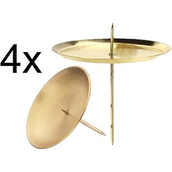 Amazon.de: 4 Stück Adventskerzenhalter 8cm gold