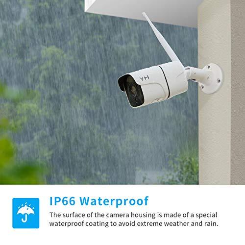 Impermeable IP66 C/ámara de Seguridad Exterior para Home Garden C/ámaras Bala 1080P IR LED Motion Detection Visi/ón Nocturna C/ámaras de Vigilancia WiFi