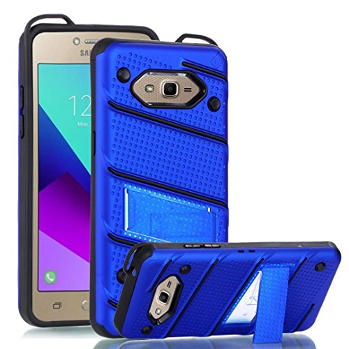 EKINHUI Case Cover Ultra Thin Slim Dual Layer PC + Soft TPU Back Schutzhülle Case [Shockproof] mit Kickstand für Samsung Galaxy G530 ( Color : Rosegold ) Blue