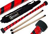 Baton du Diable Set TWIST (Rouge/Noir) + Ultra-Grip Silicone Bâtons en bois +Sac de voyage! Bâtons de Diable, Bâtons de Jonglage!
