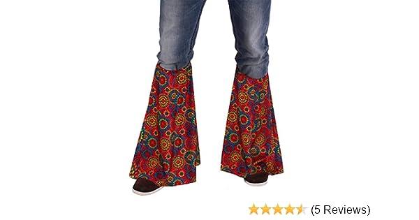 433088dcfa11 ,Karneval Klamotten' Kostüm Hippie Stulpen Multiflower Dame Herr Karneval  Flower Power Einheitsgröße