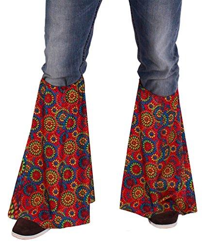 Jahre Damen Klamotten 70er (,Karneval Klamotten' Kostüm Hippie Stulpen Multiflower Dame Herr Karneval Flower Power)