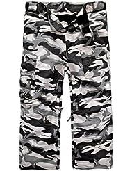 South play Hommes premium Ski Snowboard Blanc militaire Ski pants Boardwear Pantalons de ski
