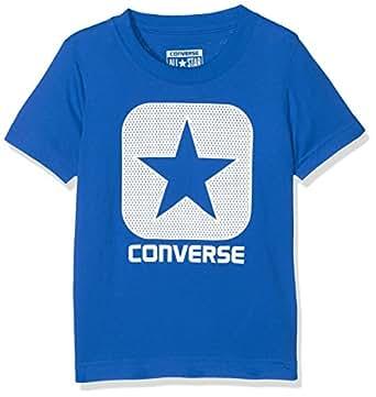 Converse Mesh Box Tee T-Shirt Bambino, Multicolore (Soar U4U), 10-11 (Taglia Produttore:10-12 Anni)