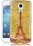 JAMMYLIZARD   Vintage Back Cover Hülle für Samsung Galaxy S4 Mini, BLAUES BLUMENMOTIV