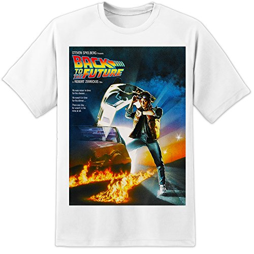 Back to The Future Movie Poster T Shirt (S-3XL) Marty McFly Retro Classic