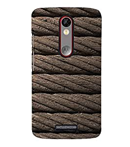 For Motorola Moto X Force texture ropes, rope, rope pattern, pattern Designer Printed High Quality Smooth Matte Protective Mobile Case Back Pouch Cover by APEX