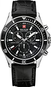 Reloj Swiss Military Hanowa de cuarzo para hombre con correa de piel, color negro de Swiss Military Hanowa