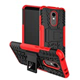 #9: BestTalk Xiaomi Redmi Note 5 Back Cover Dazzel Kickstand Hard Dual Rugged Armor Hybrid Bumper Case For Redmi Note 5 (Red)