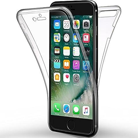 Coque iPhone 7 Plus, iPhone 8 Plus Etui , Leathlux Silicone Gel Case Avant et Arrière Intégral Full Protection Cover Transparent TPU Housse Anti-rayures pour Apple iPhone 7 Plus / iPhone 8 Plus 5.5