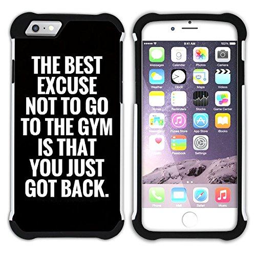 Graphic4You Gym Motivierung Zitate Krafttraining Hart + Weiche Kratzfeste Hülle Case Schale Tasche Schutzhülle für Apple iPhone 6 / 6S Design #8