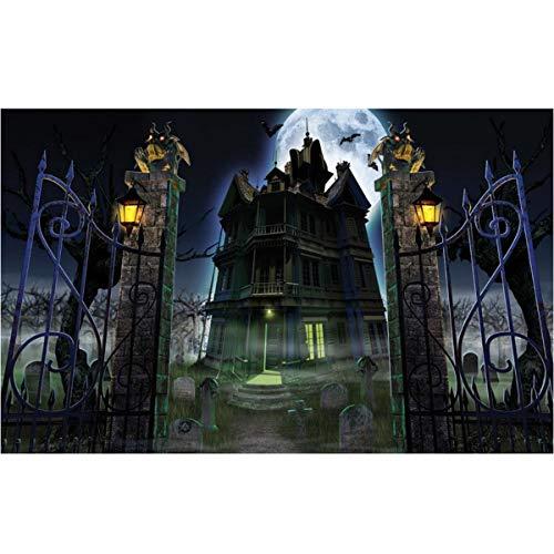 Leezeshaw 5D DIY Diamant Malen nach Zahlen Kits berühmte Strass-Stickerei Gemälde Bilder für Home Decor - Halloween (40 x 30 cm) Frameless Halloween