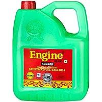 Engine Brand Kachi Ghani Agmark Grade - 1 Mustard Oil - 5 Liter Jar