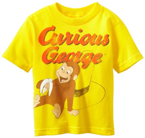 Boys Curious George Yellow T-Shirt 2T (George Curious Tshirt)