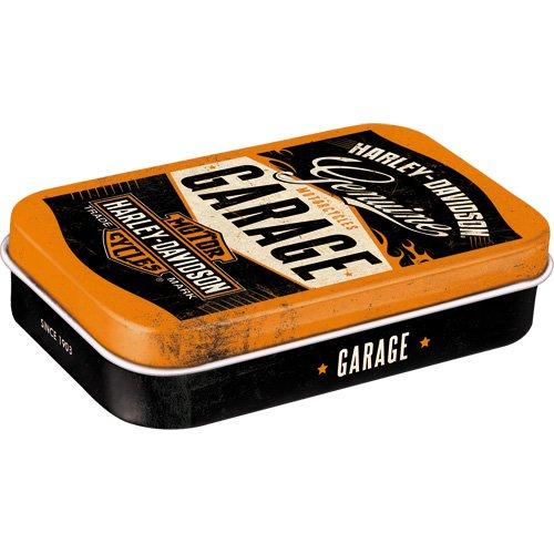 Preisvergleich Produktbild Nostalgic-Art 82105 Harley-Davidson - Garage / Pillen-Dose XL / Bonbon-Box / Metall / mit Pfefferminz-Dragees