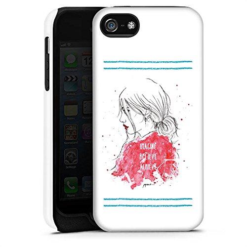Apple iPhone X Silikon Hülle Case Schutzhülle Comic Frau Zeichnung Tough Case matt
