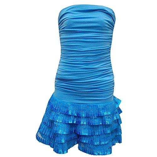 Juju & Christine - Festkleid Cocktailkleid Mädchen Frauen, blau Aqua