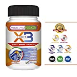 X3 JOINT + BONES + MUSCLES - Powerful and Efficient Pure Turmeric with Hydrolysed Collagen, Hyaluronic Acid, Chondroitin, Glucosamine, MSM, Calcium and Vitamin D3 – Highly absorbable and complete formula – Eliminates joint and muscle pain and inflammation