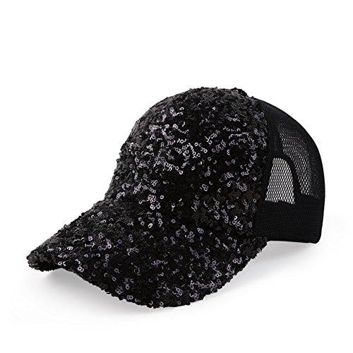 Hat paillette/Chapeaux de dames/Casual casquette de baseball/Mesh respirant Cap/Couples de vacances Sun Hat F
