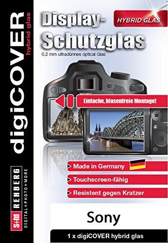 Galleria fotografica Digicover Hybrid Pellicola Protettiva in Vetro per Display Sony Alpha 68, Trasparente