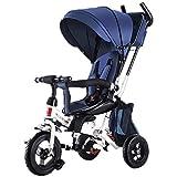 SUPRIEE Bicicleta de Equilibrio para niños, Triciclo para niños Triciclo para bebés Plegable Triciclo para bebés 7 en 1 con empuñadura giratoria Asiento reclinable para niños de 2 a 4 años de Edad