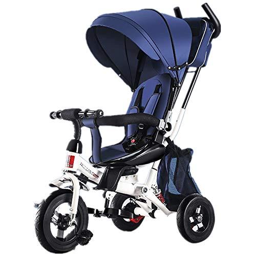 ChenBing-kids Kinder Laufrad Kinder-Dreirad faltendes Baby-Dreirad 7-in-1-Baby-Trike mit dem drehbaren und zurücklehnen Schiebesitz für Kinder Alter von 2-4 Jahren Trainingsfahrrad Für Kinder