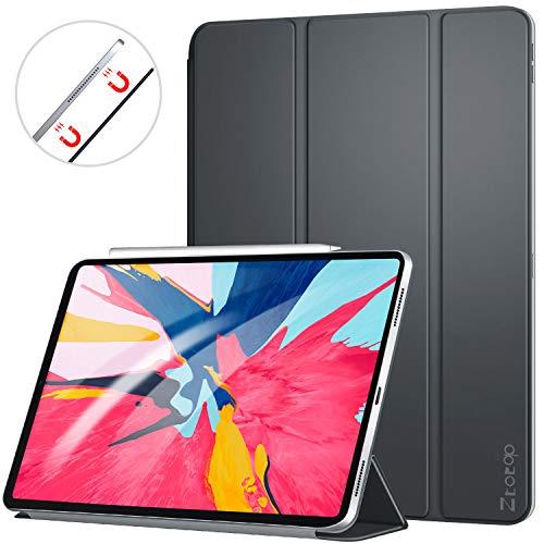 Ztotop Hülle für iPad pro 11 2018, Ultra dünn smart magnetische Abdeckung,Trifold Stand Schutzhülle mit Auto Aufwachen/Schlaf für iPad Pro 11 Zoll A1980 A1934 A2013 A1979,Dunkelgrau