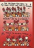 Weihnachtskarte Rudolph the Red-Nosed Reindeer