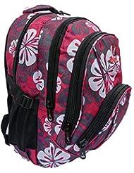Mochila Bolsas de rosa florece - Tamaño de la escuela de chicas señoras mochilas - Capacidad 30-35 litros Ltr Bolsa - acolchado y correas - Múltiples bolsillos A4 Tamaño de la carpeta - Roamlite RL82P